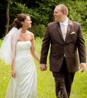 Mr And Mrs Johnson Were Married On The Perfect Summer Day In June They Chose A Color Scheme Of Pink Chocolate With Touches Very Simple Rustic